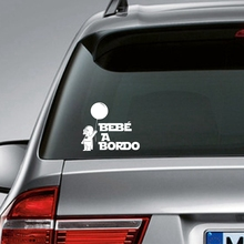 Spanish version Star Wars Car Stickers - BEBE A BORDO Vinyl Decal Sticker Coche Darth Vader LW156