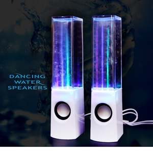 Water-Speakers Fountain Led-Light Laptop-Phone Desk-Stereo Music Dancing Portable