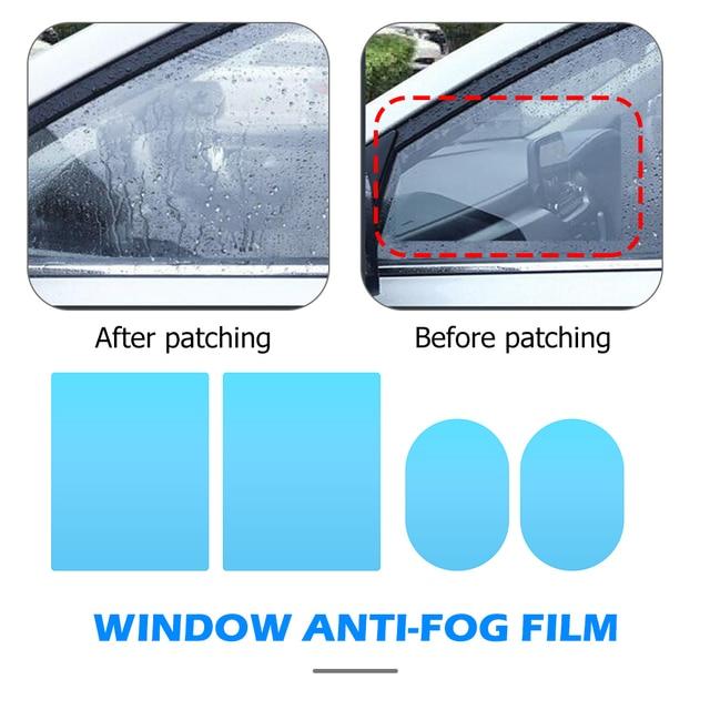 2/4/8 pièces rétroviseur latéral de voiture étanche Anti-buée Film fenêtre latérale verre Film peut protéger votre Vision conduite les jours de pluie