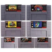 16 Bit Video oyunu kartuşu konsolu kart Donke Kong/Mari serisi abd İngilizce dil abd versiyonu için Nintendo SFC/SNES