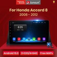 Junsun V1 Android 10.0 DSP CarPlay radioodtwarzacz samochodowy multimedialny odtwarzacz wideo Auto Stereo GPS dla Honda Accord 8 2008 - 2012 2 din dvd