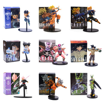 Dragon Ball Z BWFC Super Saiyan Trunks Goku Cell Frieza Piccolo Zamasu Android 17 PVC Action Figure Model Dragonball Model Toys цена 2017