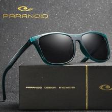 Vintage Sunglasses 8-Colors-Model PARANOID Driving Square Polarized Men's for Black Oculos