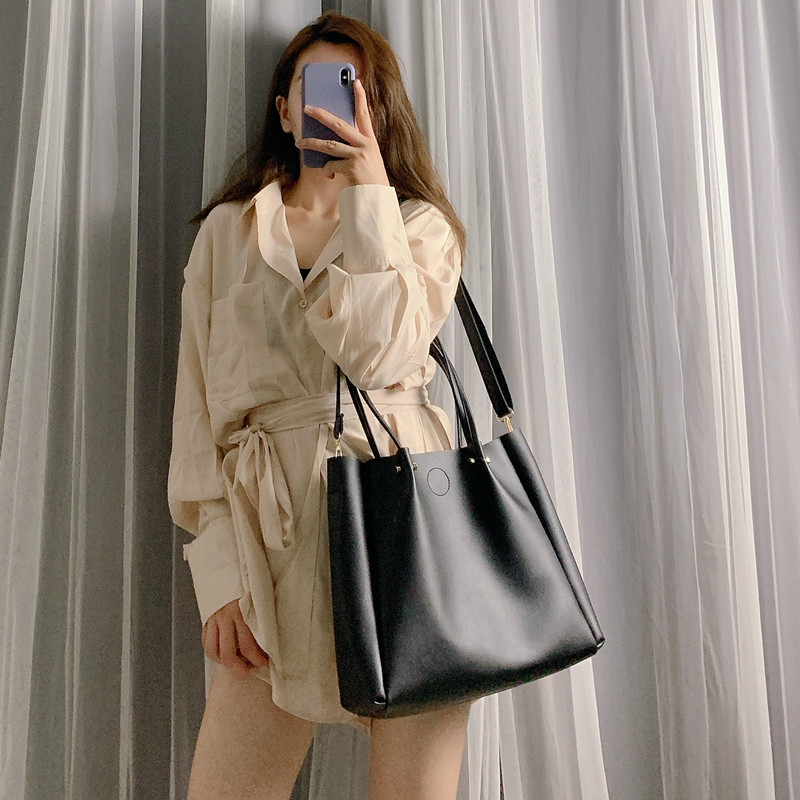 Casual Large Capacity Buckets Bag Designer Women Handbags Luxury Pu Leather Shoulder Crossbody Bags Lady Totes Female Big Purse