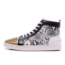 Top Men Designer Sneakers For Leopard Print Real Leather Mens Shoes High Tenis Luxury Fashion Brand Hip Hop