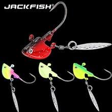 Jackfish cabeça de metal ganchos 3g 7g 10g 14g 21g cabeça chumbo gancho isca gancho jig cabeça lantejoulas artificiais multicolorido pesca equipamento ganchos