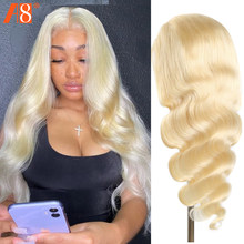 Brazilian Body Wave 613 Lace Front Wig Glueless 150% Honey Blonde Middle Part Lace Front Human Hair Wigs For Women