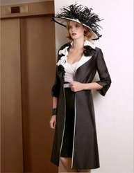 Черный 2019 платья для матери невесты облегающее до колен с курткой Свадебный букет жениха короткие платья для матери на свадьбу