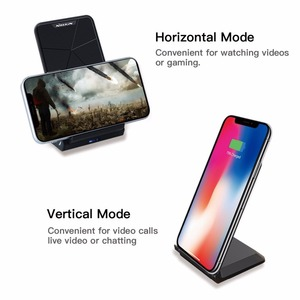 Image 4 - NILLKIN Qi Wireless Charger Stand for iPhone XS/XR/X/8/8 Plus Fast 10W Wireless Charger For Samsung Note 8/S8/S10/S10E