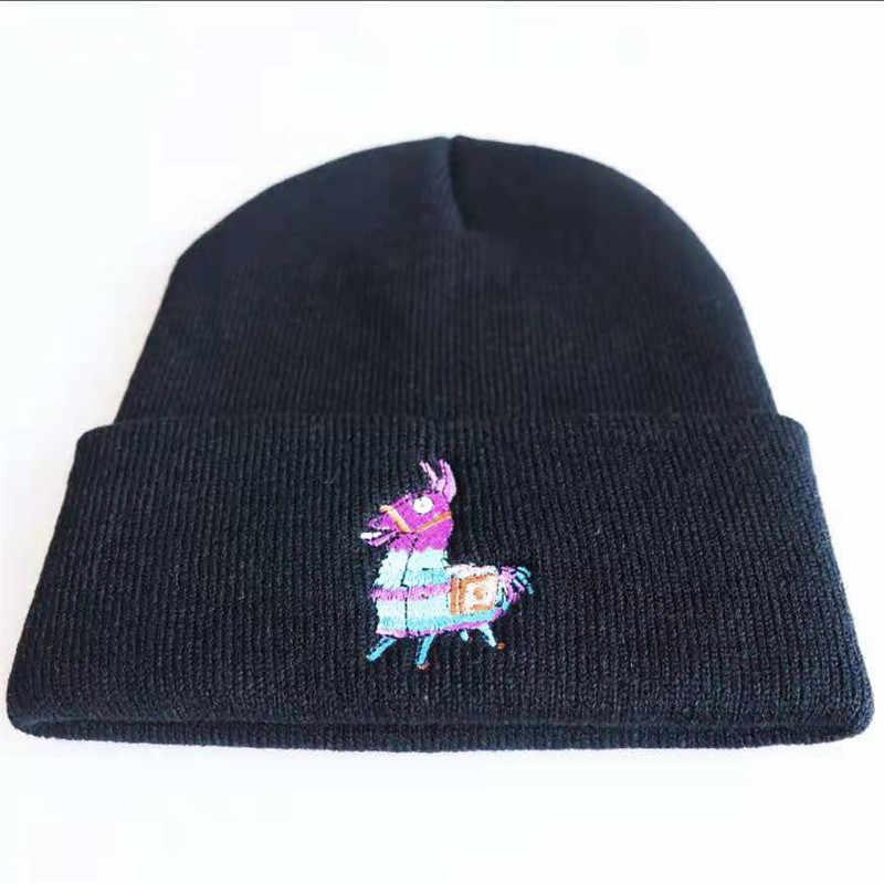 เกมใหม่ล่าสุด Battle Royale Raven ถักหมวก Cuddle ทีมผู้นำคอสเพลย์แฟชั่นผู้หญิงหมวกฤดูหนาวหมวกน่ารัก Llama หมวกสำหรับหมวกเด็กผู้ใหญ่