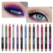 1 шт., двойной цвет, водостойкий Блестящий карандаш для подводки глаз, цветной, стойкий карандаш для век, косметика для глаз, женские инструменты для макияжа