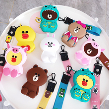 Cute Cartoon Women Wallets Small Box For Airpods Case Silicone Mini Purse Lady Card Bag Clutch Womens And Purses