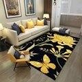 Ковер в пасторальном стиле  3D  золотые бабочки  цветы  ковры  гостиная  журнальный столик  нескользящий коврик  балкон  прикроватная тумбочка...
