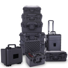 Plastic Toolbox Draagbare Waterdichte Veiligheid Bescherming Gereedschapskist Schokbestendig Apparatuur Instrument Case Tool Case