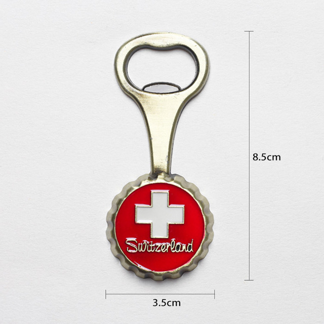 Tourist souvenir Switzerland Italy refrigerator magnet beer opener Europe Britain France Germany travel souvenir home decoration 4