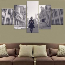 5 Pieces Game NieR Automata Building YoRHa Canvas HD Printed Painting Modern Wall Art Decorative Modular Framework Picture