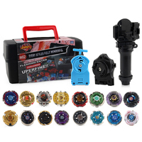 Spin Tops Gyros Set Toupie Spinning Top Metal 4D Fusion Gyros With Launcher Handle With Box Toys For Kid#E