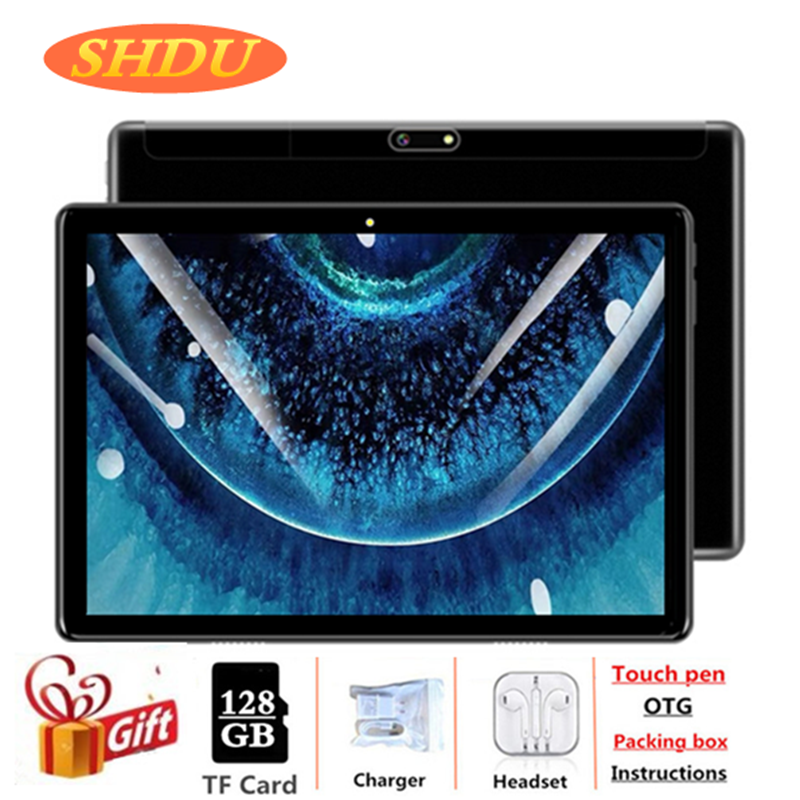 10.1 Inch Tablet Pc Android 7.0 Quad Core Google Play 2GB Ram 32GB Rom Dual SIM Cards WiFi Tablets Pc Gift + 128GB SD Card