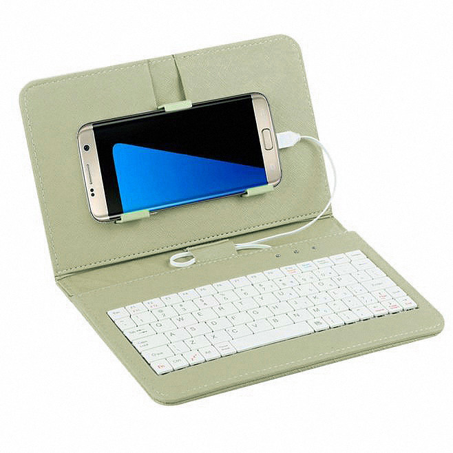 Top Flip Keyboard For Andriod Mobile Phone 4.2''-6.8'' Wired Keyboard Case For Andriod Mobile Phone 4.2''-6.8'' Cover #E15