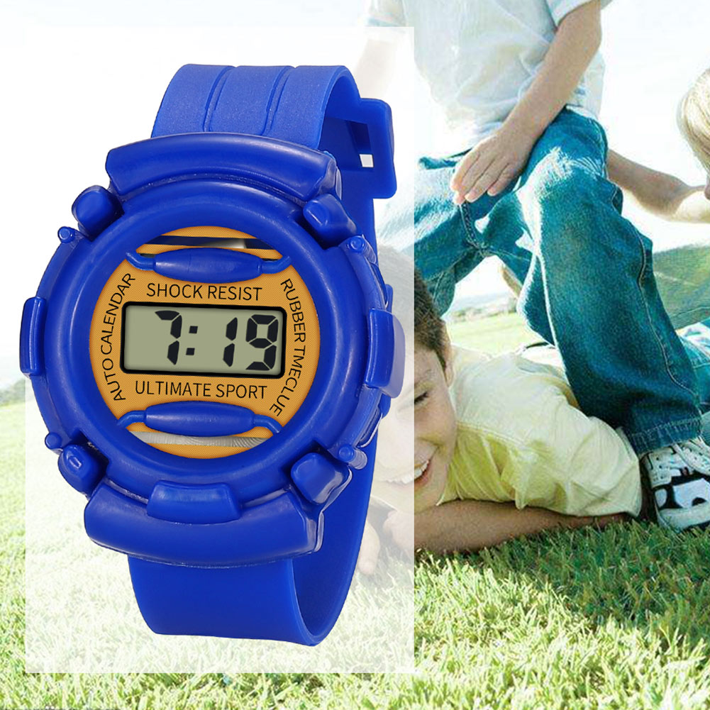 Lightweight And Durable Kids Casual Electronic Watch Children Silicone Sports Watches  KS-shipping