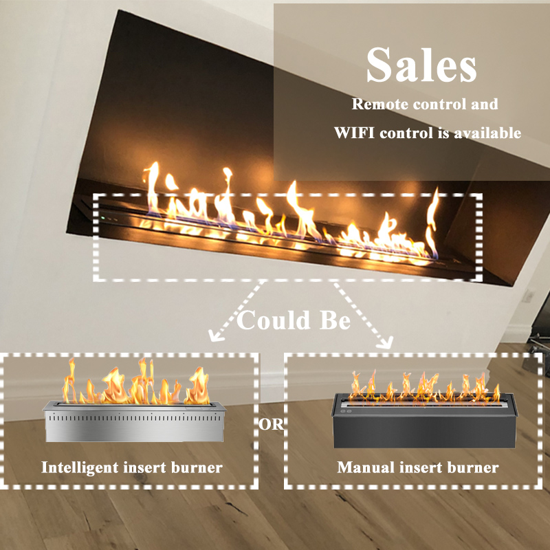 36 Inch Home Decoration Remote Control Smart Ethanol Fireplace