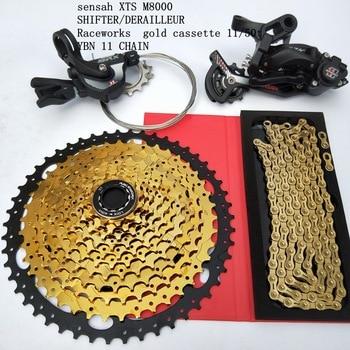 MTB 1*11 Groupset 11 Speed 11-50T Cassette Shifter Rear Derailleur Gear Chain 11S Bike 1 x 11 kit For Shimano XT M8000 SRAM цена 2017