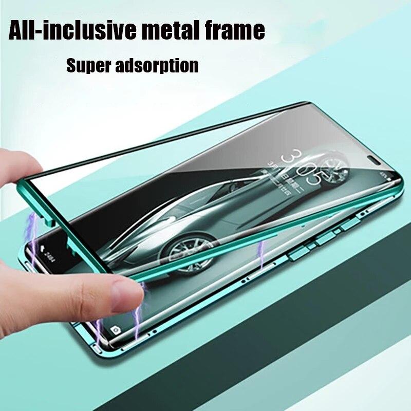 Магнитный металлический адсорбирующий чехол 360 для Huawei P40 P30 P20 Mate 20 30 Pro lite, чехлы для Huawei Honor 20 30 30S Nova 5 6 7 Pro Бамперы      АлиЭкспресс