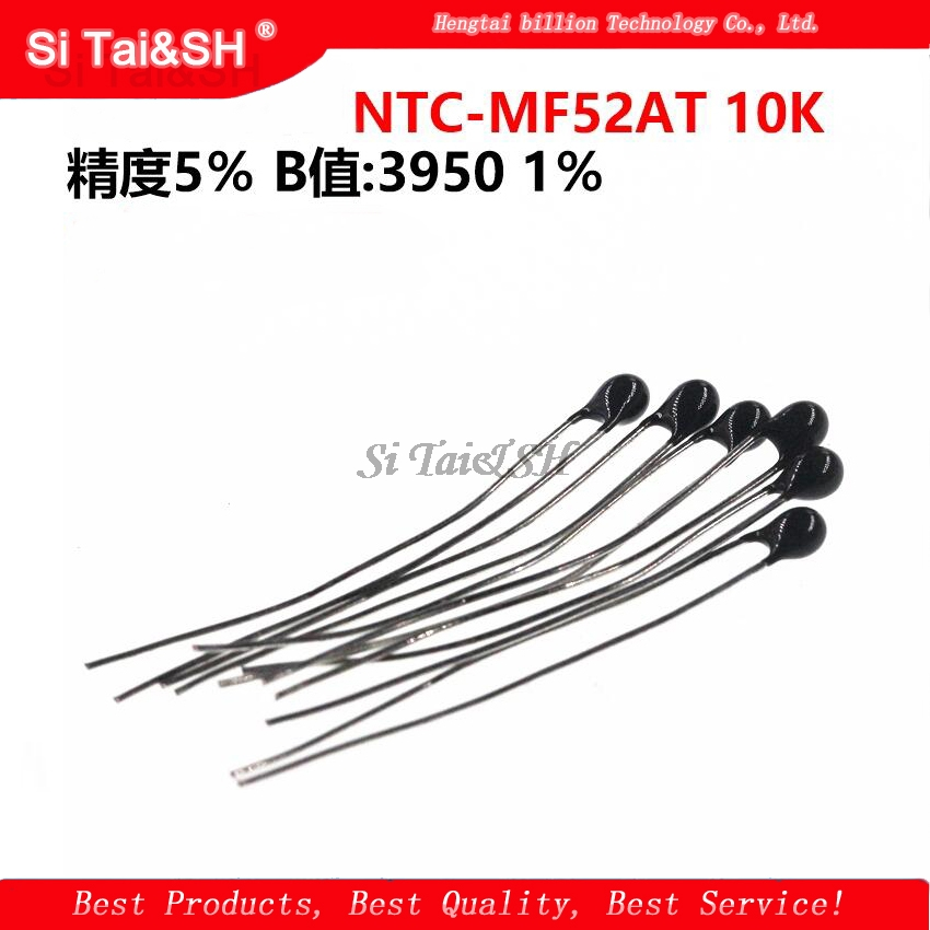 20pcs <font><b>10k</b></font> OHM <font><b>NTC</b></font> MF52AT 3950 <font><b>Thermistor</b></font> Resistor <font><b>NTC</b></font>-MF52AT MF52 <font><b>10K</b></font> +/-1% Thermal Resistor image