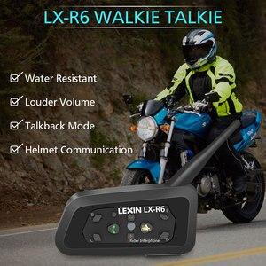 Image 5 - Lexin intercomunicador R6 para Moto, auriculares para casco, intercomunicadores resistentes al agua, R6, 1200M