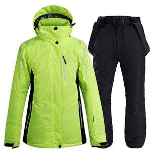Image 5 - Новинка 2020, теплый зимний лыжный костюм для мужчин и женщин, ветрозащитный водонепроницаемый костюм для катания на лыжах и сноуборде, куртка и брюки, мужской костюм для снега