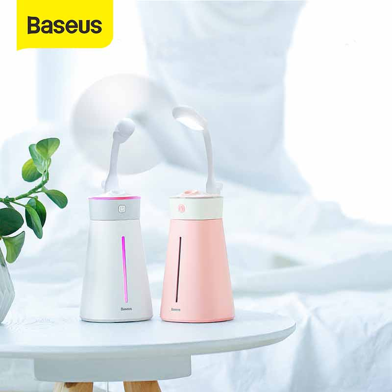Baseus Humidifier For Office Home Aroma Diffuser Ultrasonic Humidifer LED Night Light Fan Aromatherapy Humidificador