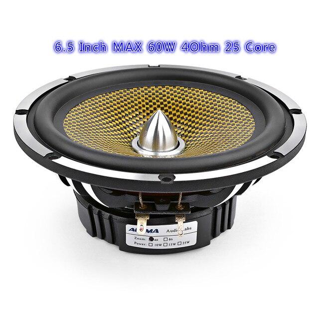 6.5 Inch Âm Thanh Xe Ô Tô Trung Âm Bass Cao Cấp 4 8 Ohm 60 W 25 Nhân Viên Đạn Nhôm Lưu Vực Âm Nhạc loa Trầm Loa