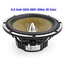 Haut parleur de basse de milieu de gamme Audio de voiture de 6.5 pouces haute puissance 4 8 ohms 60 W 25 haut parleur de graves de musique de bassin en aluminium de balle de noyau