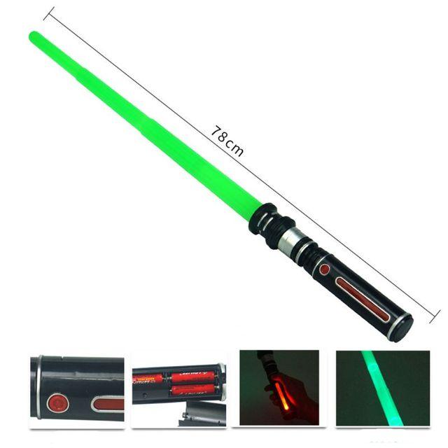 New Telescopic Lightsaber Toys Flashing Sword Cosplay Luminous Music Star Laser Toy Swords Kids Toy Boys GiftOutdoor Fun & Sports