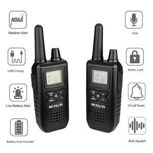 Image 4 - Retevis RT41 Handheld Mini Walkie Talkie 2pcs VOX Scan License free FRS Two Way Radio NOAA Weather Alert Hf Transceiver