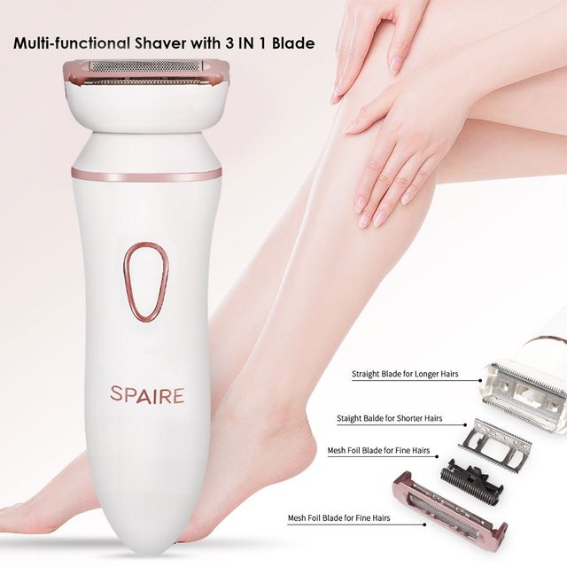 4 in1 Women Hair Removal Lady Shaver Wool Device Epilator Female Shaving Machine Eyebrow Nose Electric Trimmer Face Cleaning 1