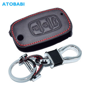 Leather Car Key Case For LADA Sedan Largus Kalina Granta Vesta XRay for Renault Mercedes Benz SMAR Cover Keychain Protector Bag
