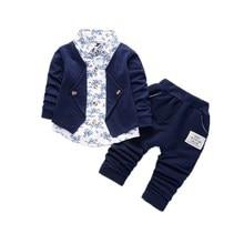 New Spring Autumn Baby Boys Girls Cotton Clothes Infant Gentleman T Shirt Toddler Children Jacket Pants 2Pcs/Sets Kid Tracksuits