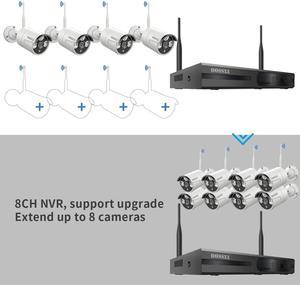 Image 2 - Oossxx 8ch sistema de câmera de segurança sem fio 1080p nvr 4pcs 2mp gravação áudio hd cctv ao ar livre sem fio câmera ip vigilância vídeo