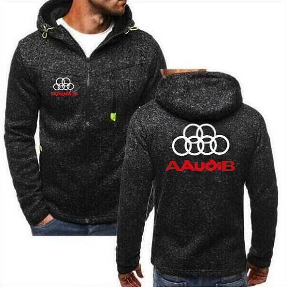 2020 Fashion AAudiB Hoodie Brand Hoodie Long Sleeve Hot Spring Hooded Zipper Shirt Casual Car Men's Sweatshirt
