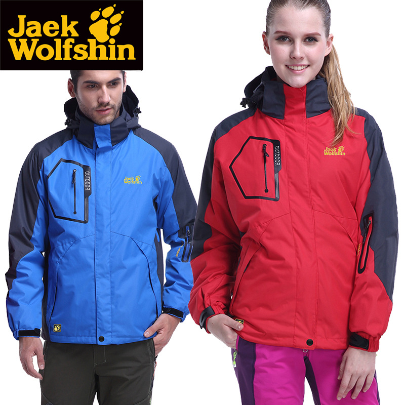 Sen Zhou Jack Wolfskin Outdoor Two-Piece Fleece Polar Fleece Removable Shoulder Inner Wearing Raincoat Jacket Men And Women Thre