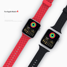 Braided silicone strap for Apple 38/40/42/44 mm 4 sports bracelet iwatch watch 3 2 1 accessories
