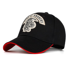 2018 new Baseball Cap SOA Sons of Anarchy Skull Embroidery C