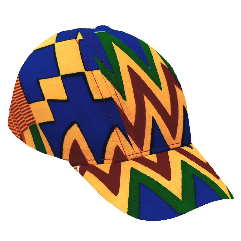 African Cap Fashion Ankara Print Hat Baseball Cap Custom Logo Brand Printing Ankara Print Mesh Cap Snapback Hat Wholesale