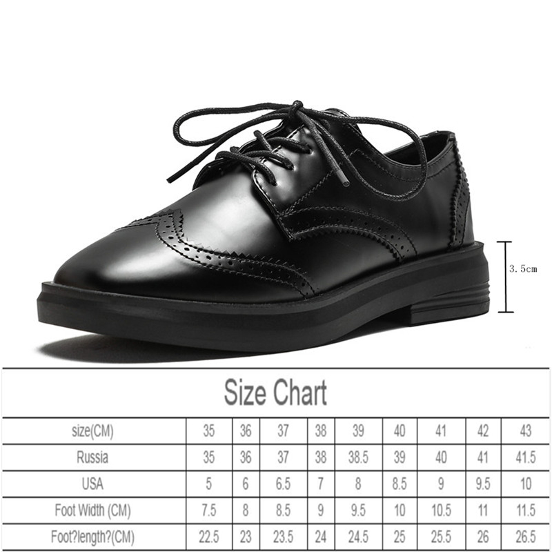 AIYUQI Women's Shoes British Style 2020 Spring New Brock Single Shoes Women Retro Thick Bottom Lace-up Casual Shoes