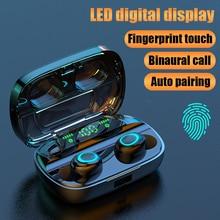 Беспроводные Bluetooth наушники TWS наушники Bluetooth 5,0 наушники с шумоподавлением Handsfree светодиодный цифровой дисплей наушники