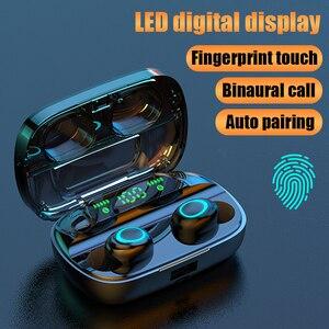 Image 1 - Беспроводные Bluetooth наушники TWS наушники Bluetooth 5,0 наушники с шумоподавлением Handsfree светодиодный цифровой дисплей наушники