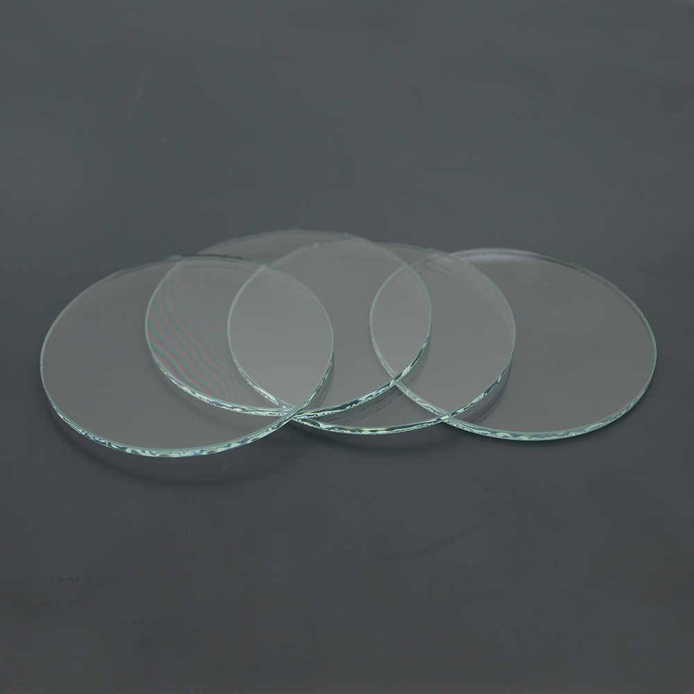 5PCS 42mm x 1.5mm Clear Glass Flat Lens round lens