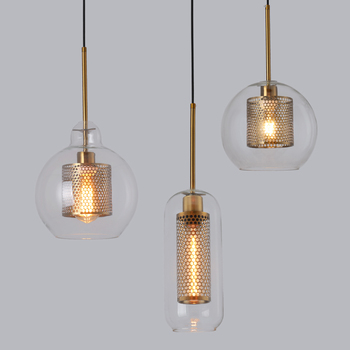 Loft Modern Pendant Light Glass Ball Hanging Lamp Kitchen Light Fixture Dining Hanglamp  Living Room Luminaire modern design glass ball chandelier 6 heads glass bubble lamp chandelier for living room kitchen light fixture