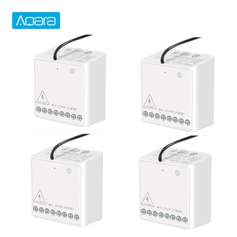 Aqara Two-way Module Smart Setting Timer Zigbee Wireless 2 Channels Relay Controller Multiple Device Works For MI Home Homekit